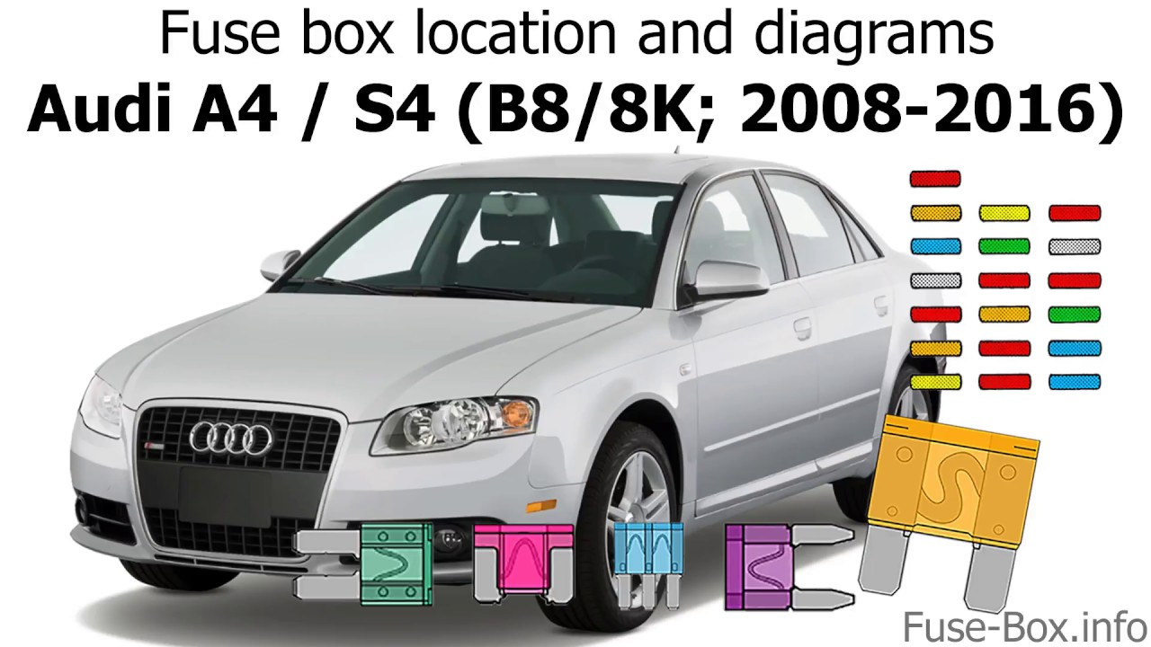Fuse Box Location And Diagrams  Audi A4    S4  B8  8k  2008